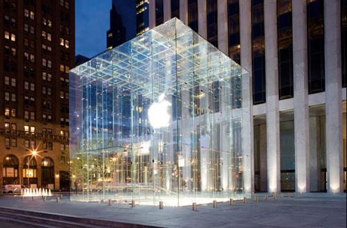 Apple parduotuvė Fifth Avenue Niujorke