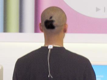 apple gerbėjo šukuosena